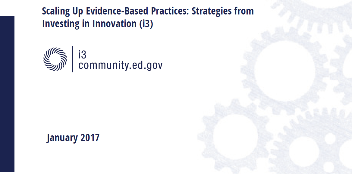 """Featured image for """"Scaling Up Evidence-Based Practices: Strategies from Investing in Innovation"""""""